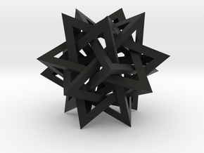 Intersecting Tetrahedra - Small in Black Strong & Flexible