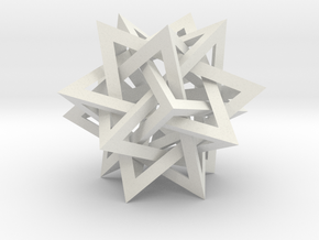 Intersecting Tetrahedra - Small in White Natural Versatile Plastic