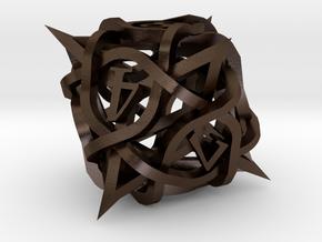 Thorn Die8 in Polished Bronze Steel