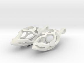 Vine Pod Earrings (Small) in White Natural Versatile Plastic