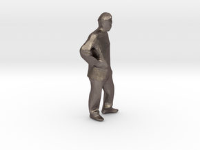 """hands on hips 1/8"""" scale in Polished Bronzed Silver Steel"""
