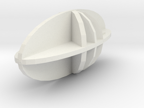 Biaxial Positive in White Natural Versatile Plastic