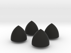 Solid of Constant Width - Set of 4 in Black Strong & Flexible
