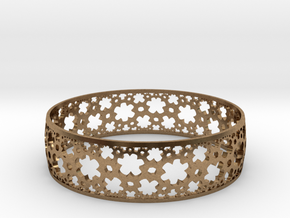 HyperBracelet I  in Natural Brass