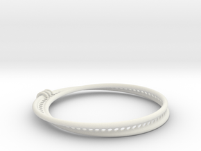 Möbius Snake Bracelet (Small) in White Natural Versatile Plastic