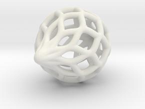 Heavier Netted Ornament in White Natural Versatile Plastic