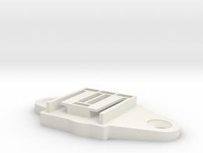 offset mount in White Natural Versatile Plastic