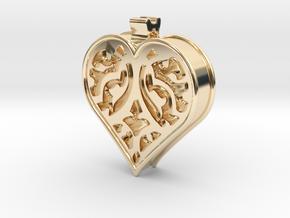 Window Heart in 14K Yellow Gold