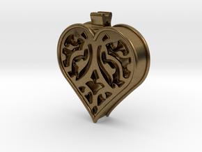 Window Heart in Natural Bronze
