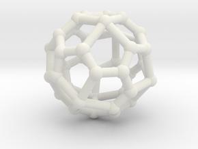 Pentagonal icositetrahedron in White Natural Versatile Plastic