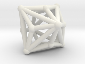 Triakisoctahedron in White Natural Versatile Plastic