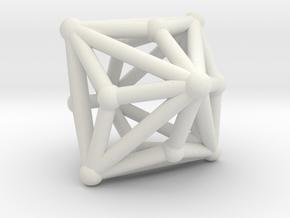 Triakisoctahedron in White Natural Versatile Plastic