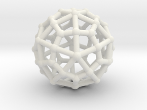 Deltoidal hexecontahedron in White Natural Versatile Plastic