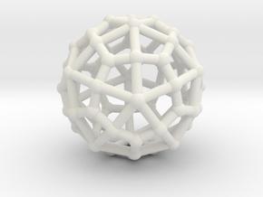 Deltoidal hexecontahedron in White Natural Versatile Plastic: Small