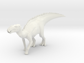 Gryposaurus Dinosaur Small HOLLOW in White Natural Versatile Plastic