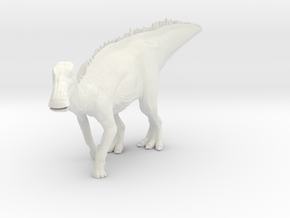 Edmontosaurus Dinosaur Small HOLLOW in White Natural Versatile Plastic