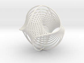 WaveBall3 in White Natural Versatile Plastic