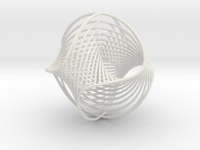 WaveBall3 in White Natural Versatile Plastic