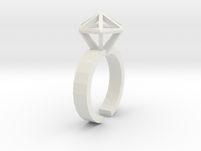 Stereodiamond Ring in White Strong & Flexible
