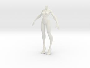 1:6 female body in White Natural Versatile Plastic