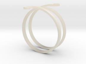 Bracelet in White Acrylic
