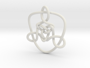 Celtic Knots 01 in White Natural Versatile Plastic