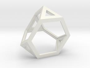 Truncated tetrahedron in White Natural Versatile Plastic