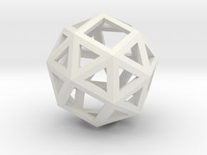 Snub cube in White Natural Versatile Plastic