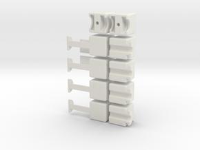 1x2x5 Rubiks Cube in White Natural Versatile Plastic