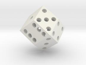 Rhombic die (2.5 cm) in White Natural Versatile Plastic