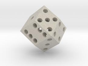 Rhombic die (2.5 cm) in Natural Sandstone