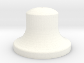 "3/4"" Scale Bell in White Processed Versatile Plastic"