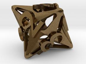 Pinwheel d8 in Natural Bronze