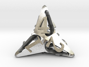 Pinwheel Die4 in Natural Silver