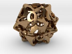 Pinwheel d12 in Natural Brass