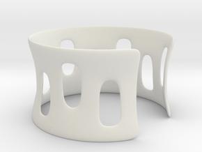 Bracciale001 in White Natural Versatile Plastic