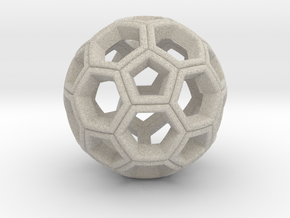 Soccer Ball Pendant in Natural Sandstone