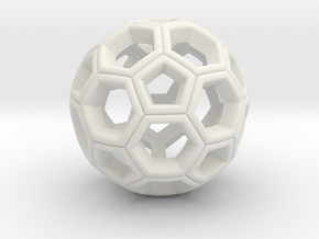 Soccer Ball Pendant in White Strong & Flexible