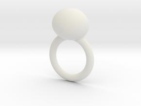 deel 2 ring met worm in White Natural Versatile Plastic