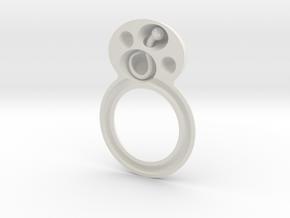 deel 1 ring met worm in White Natural Versatile Plastic