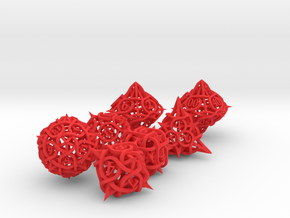 Thorn Dice Set with Decader in Red Processed Versatile Plastic