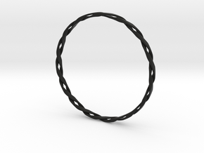 Twist Bangle in Black Strong & Flexible