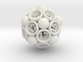 Spore d20 in White Natural Versatile Plastic