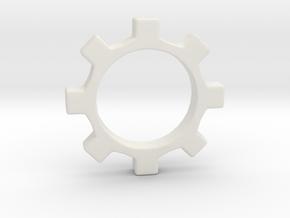 Tecnoc Gear in White Natural Versatile Plastic
