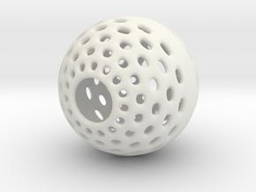 Malabor Halo-Hole Ball in White Natural Versatile Plastic