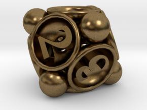 Spore d8 in Natural Bronze