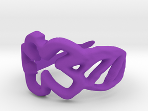 Draw your own ring in Purple Strong & Flexible Polished