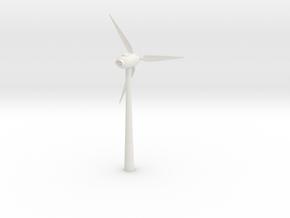 Wind Turbine Test in White Natural Versatile Plastic