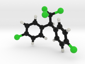 DDT molecule model in Full Color Sandstone