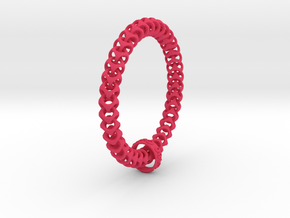 Cubichain Bracelet (Multiple sizes) in Pink Strong & Flexible Polished